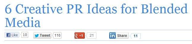 6 Creative PR Ideas for Blended Media