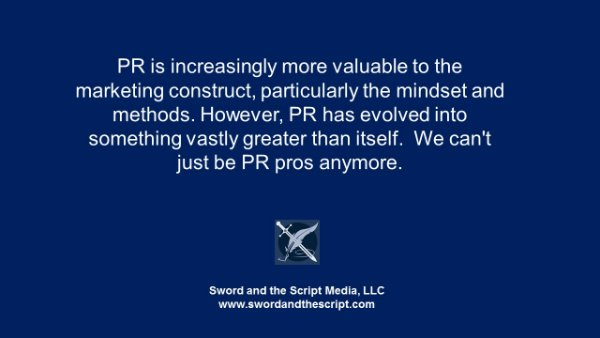 Why we can't just be PR pros anymore