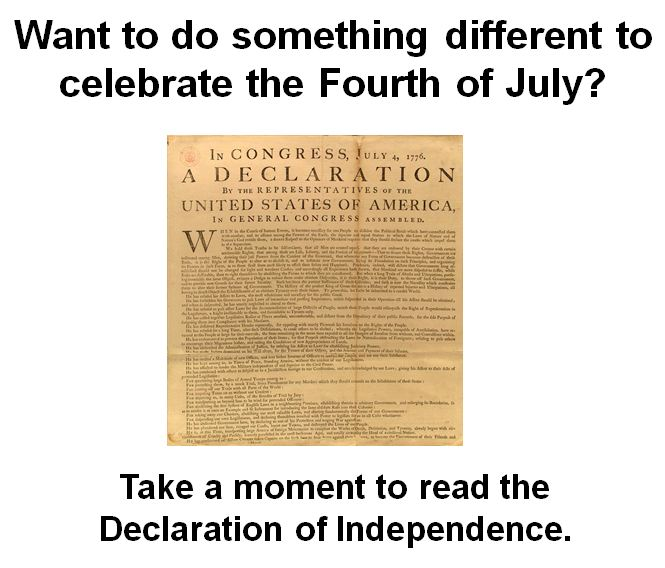Read the Declaration of Independence