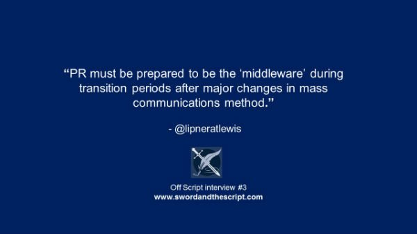PR must be prepared to be the middlewarex600