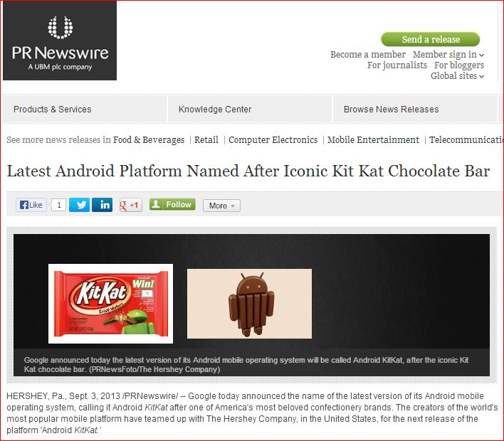 no-follow links press release android kitkat