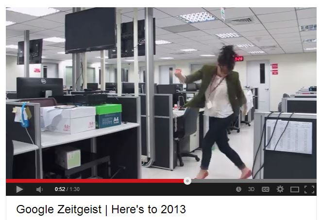 Screenshot Google Zeitgeist | Here's to 2013