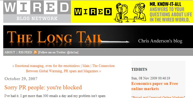 Wired PR Spam
