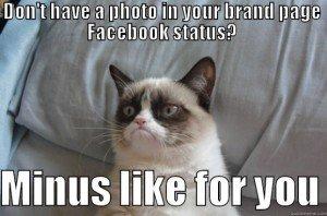 facebook brand text status