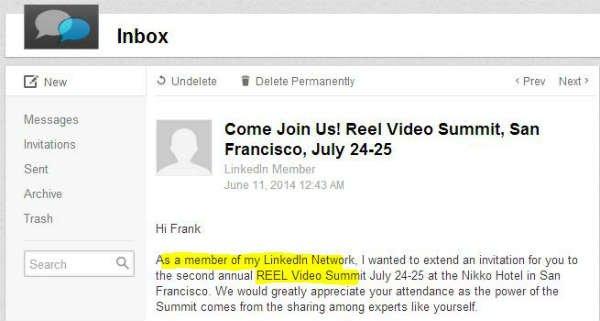 reelseo linkedin spam