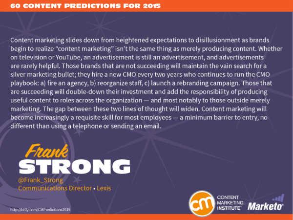 Pragmatic Content Marketing Predictions