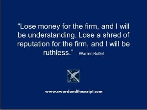 Warren Buffet Reiterates the Value of Reputation