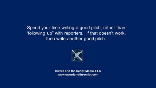 Spend your time writing a good pitch