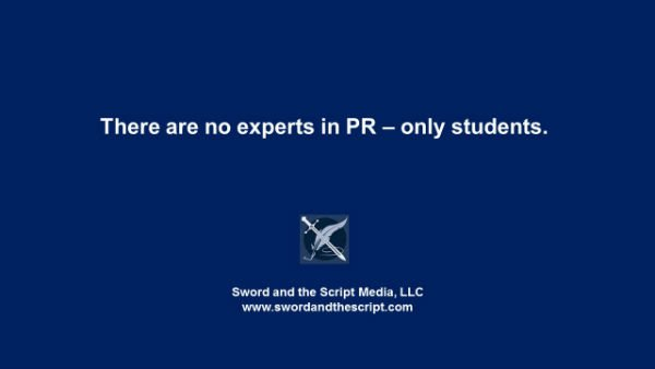 There are no experts in PR – only studentsx600