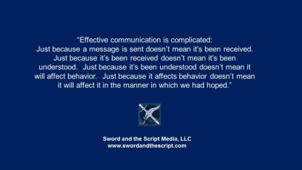 Effective communication is complicated