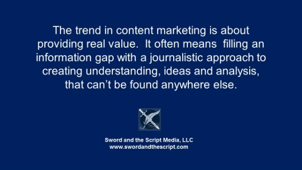 The trend in content marketing