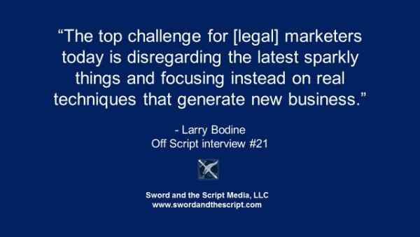 top challenge for legal marketing