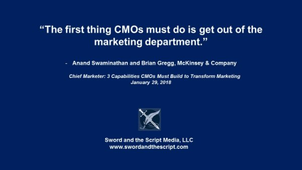 The first thing CMOs must do is get out of the marketing department-2