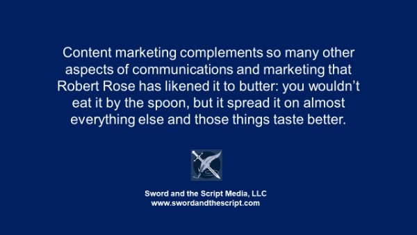 Content marketing is like butter